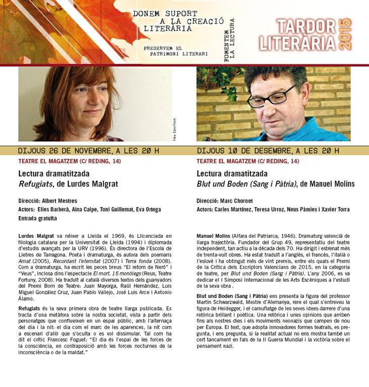 La Casa de les Lletres presenta 'Blut und Boden' dins el cicle de Lectures Dramatitzades