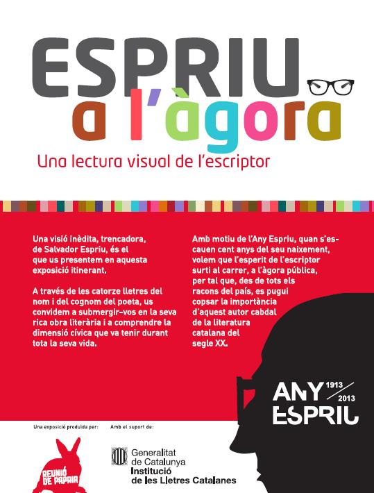 """La mostra itinerant """"Espriu a l'Àgora"""" es presenta demà al carrer"""