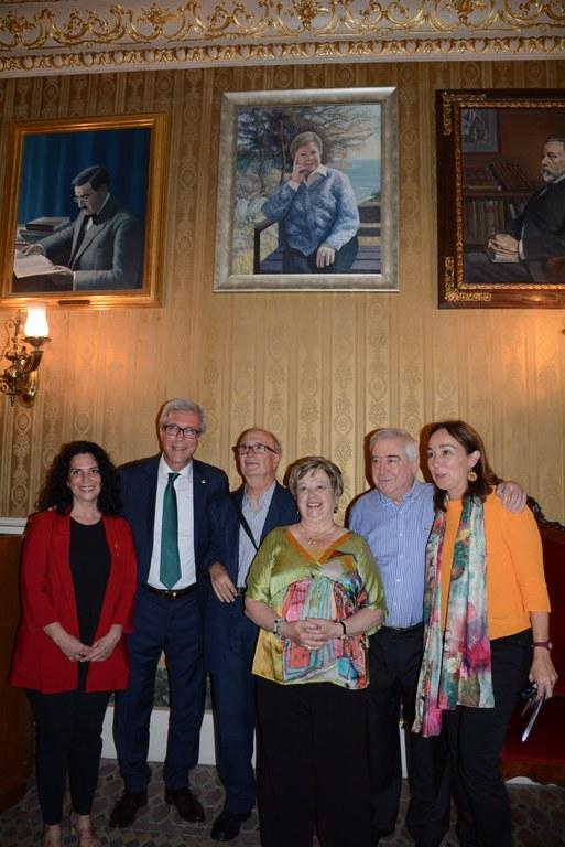 El retrat de l'escriptora Olga Xirinacs a la Sala de Tarragonins Il·lustres