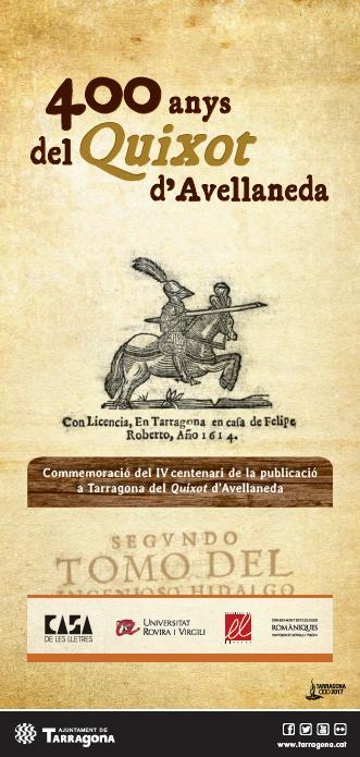Ajuntament i Universitat lideren la celebració del IV centenari del Quixot d'Avellaneda