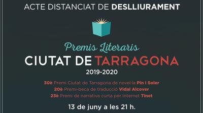 Els veredictes dels Premis Literaris Ciutat de Tarragona es donaran a conèixer en un programa televisiu que emetrà TAC12