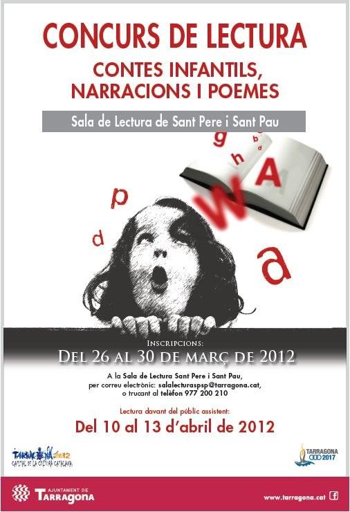 La Sala de Lectura de Sant Pere i Sant Pau organitza el 1r Concurs de lectura de contes
