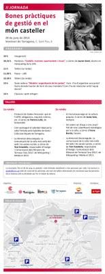 Dissabte se celebrarà la II Jornada de Bones Pràctiques de Gestió en el Món Casteller