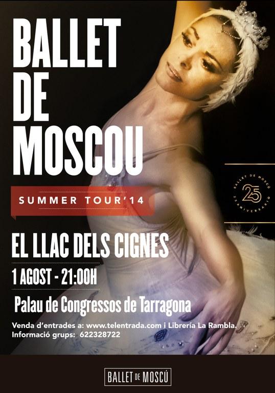 El Ballet de Moscou retorna al Palau de Congressos  el proper 1 d'agost
