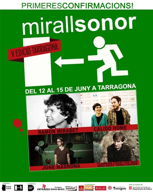 El Festival MirallSonor avança els primers concerts d'aquesta 5a edició a Tarragona