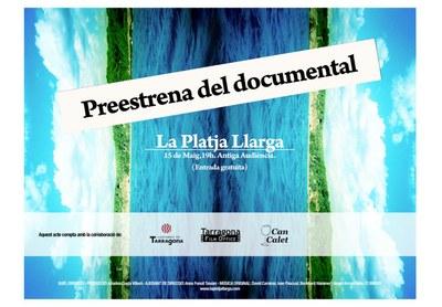 """Preestrena de documental """"La Platja Llarga, d'Ariadna Costa Villaró"""