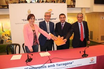 Repsol renova el compromís amb l'Ajuntament de Tarragona patrocinant Tarraco Viva, el Concurs de Castells i Santa Tecla