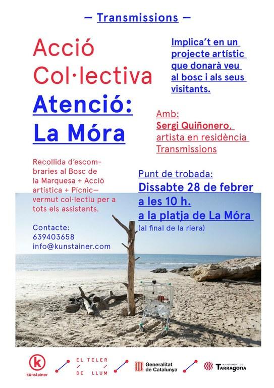 """Acció col·lectiva """"Atenció, La Móra"""", de Sergi Quiñonero"""