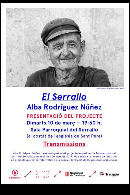 Alba Rodríguez farà una residència artística al Serrallo