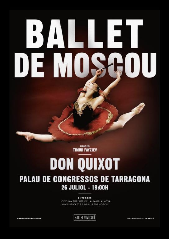 El ballet 'Don Quixot' del Ballet de Moscou es representarà al Palau Firal