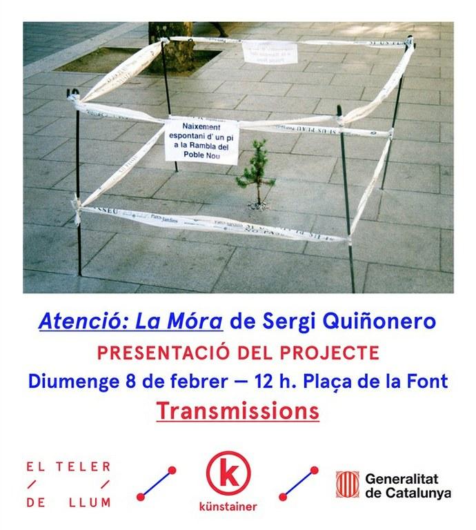 El projecte Transmissions presenta l'acció de Sergi Quiñonero