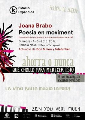 Joana Brabo presenta el seu treball artístic amb els busos de la ciutat
