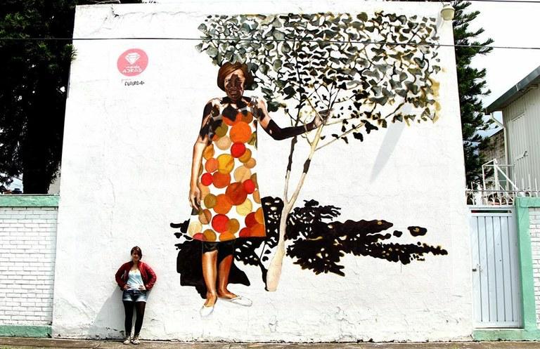 L'artista Mariela Ajras crearà un gran mural a Bonavista inspirat en una imatge del barri als anys seixanta
