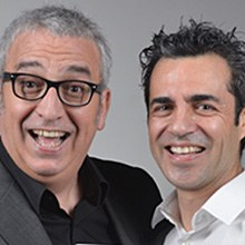 Leo Harlem  i Dani Delacámara al Palau Firal i de Congressos de Tarragona el 7 de desembre