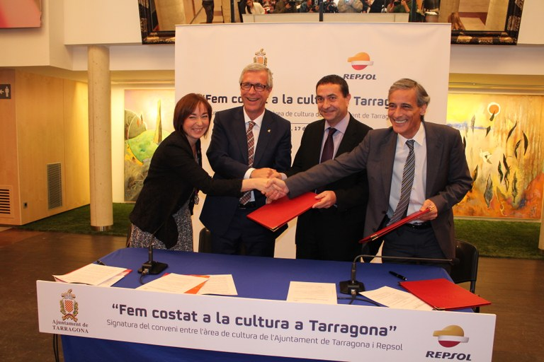 Repsol renova el compromís amb l'Ajuntament de Tarragona