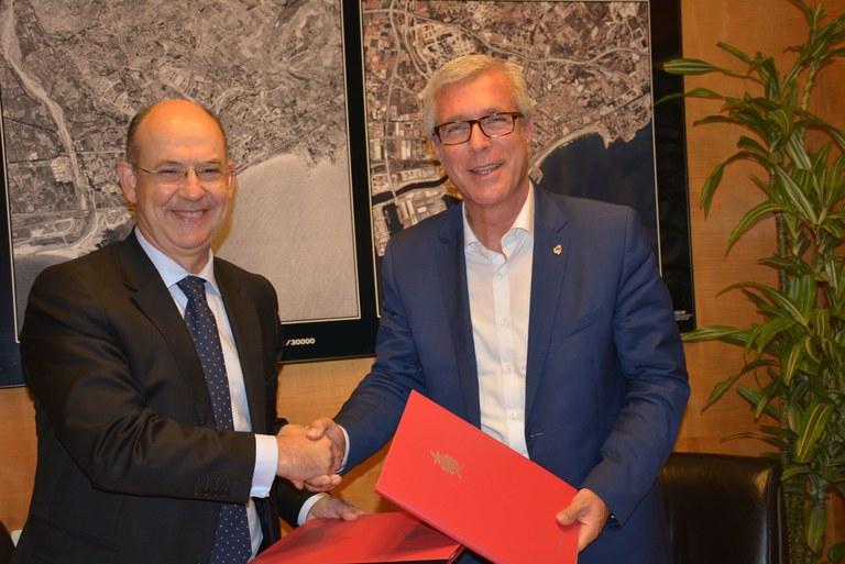 BBVA i CX signen un conveni doble de col·laboració amb l'Ajuntament de Tarragona