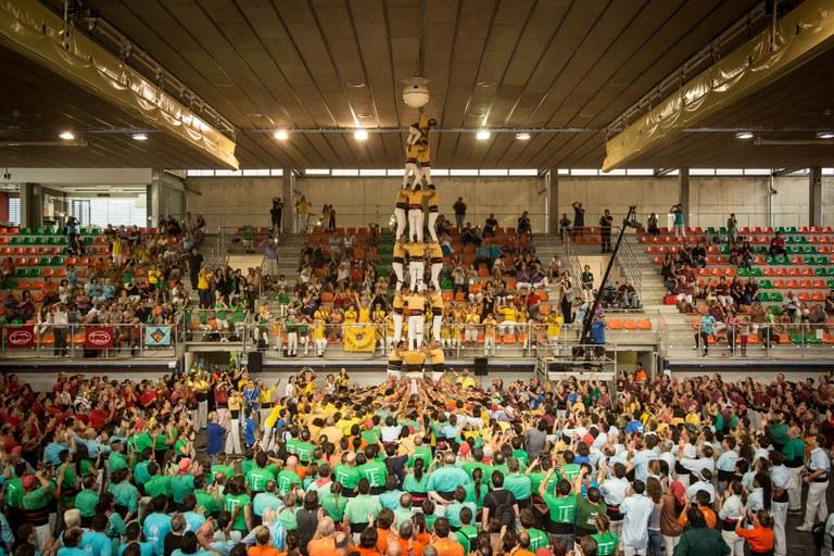 Els Castellers de Badalona, guanyadors de la primera jornada del XXVI Concurs de Castells