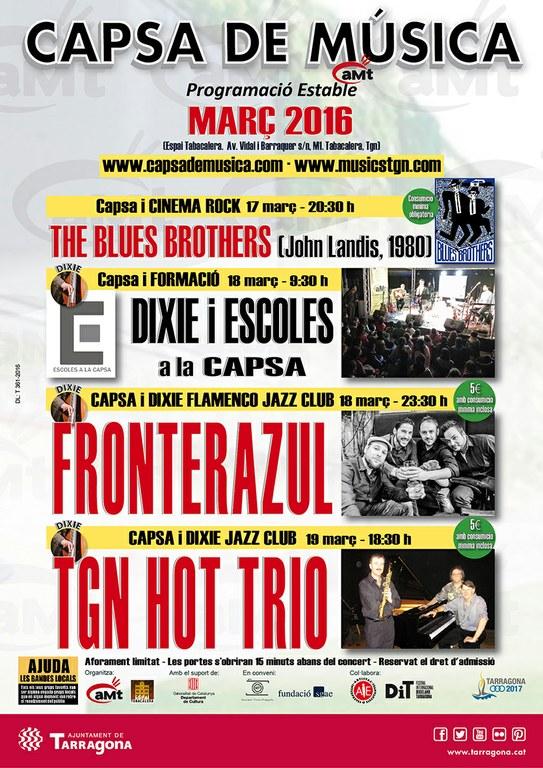 La programació de març de la Capsa de Música s'emmarca en el jazz i el dixie
