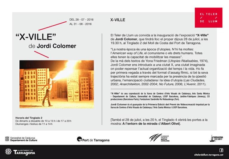 """L'artista Jordi Colomer exposa """"X-Ville"""" al Tinglado 2"""