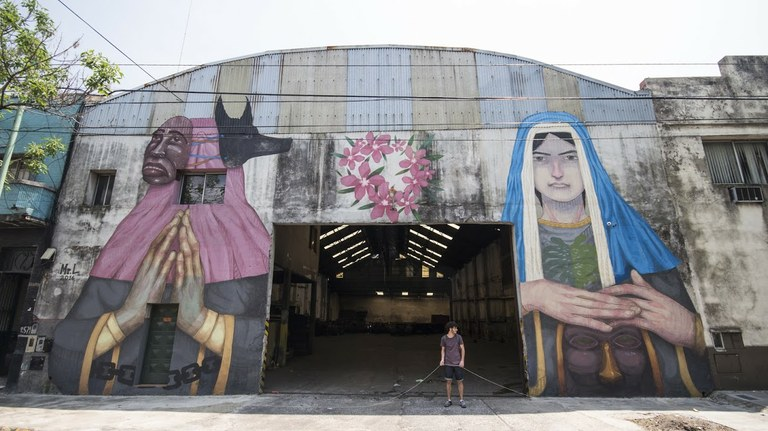 L'artista 'La Robot de Madera' farà un mural a Sant Salvador