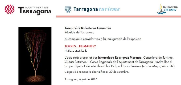 """L'Espai Turisme presenta l'exposició """"Torres... humanes?"""", d'Aleix Antillach"""