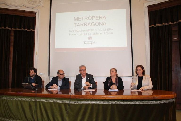 Tarragona presenta el projecte Metròpera, amb vocació de ser referent a Catalunya