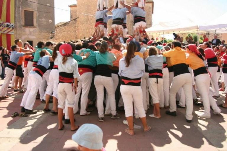 Trasllat de la Jornada del Concurs de Castells de demà a Torredembarra al Pavelló Sant Jordi