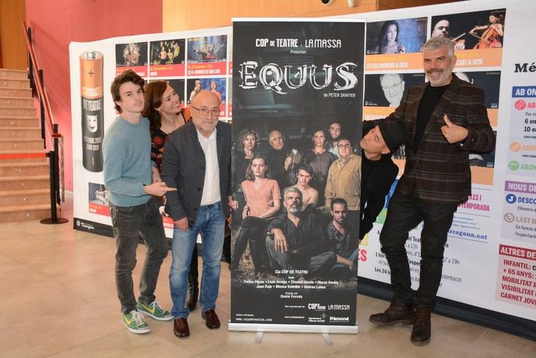 Dissabte el Teatre Tarragona acull l'estrena d'Equus, amb l'actriu tarragonina Mercè Rovira