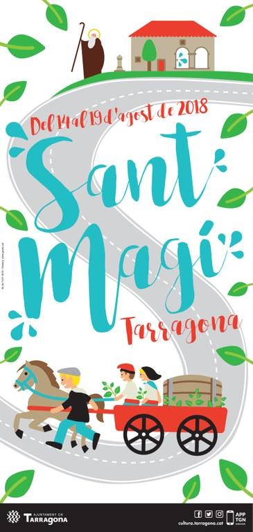Itziar Solla, guanyadora del concurs del cartell de les festes de Sant Magí 2018