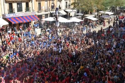 Moixiganguers d'Igualada i Xiquets de Reus, guanyadors 'ex aquo' de la jornada del dissabte del XXVII Concurs de Castells de Tarragona