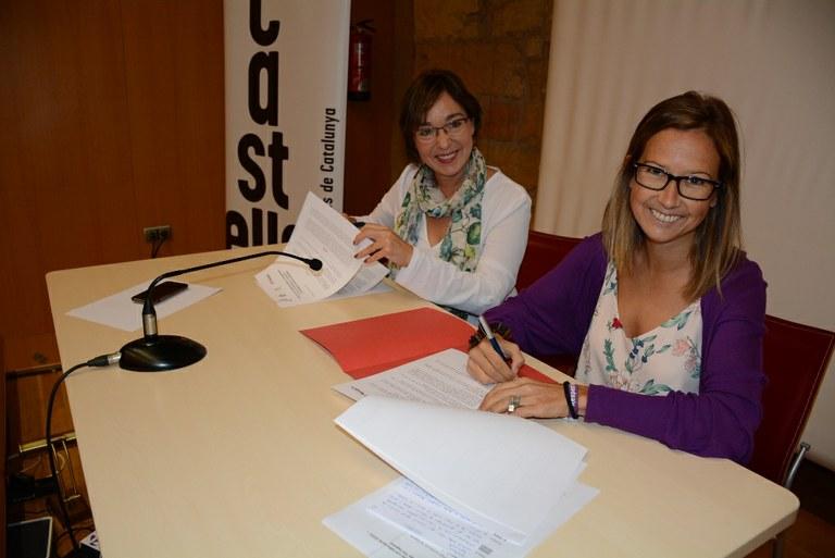 Signatura del conveni de col·laboració entre la CCCC i el Concurs de Castells de Tarragona
