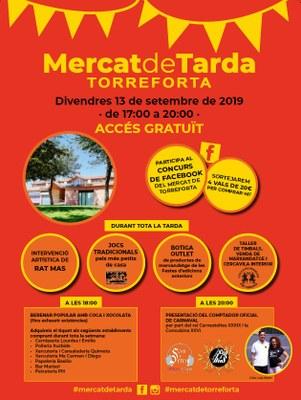 El mercat de Torreforta s'afegeix a les Festes de Santa Tecla 2019