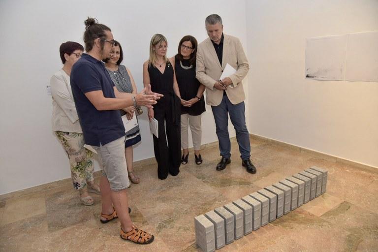 L'alcalde Pau Ricomà assisteix al lliurament de premis de la Biennal d'Art 2019