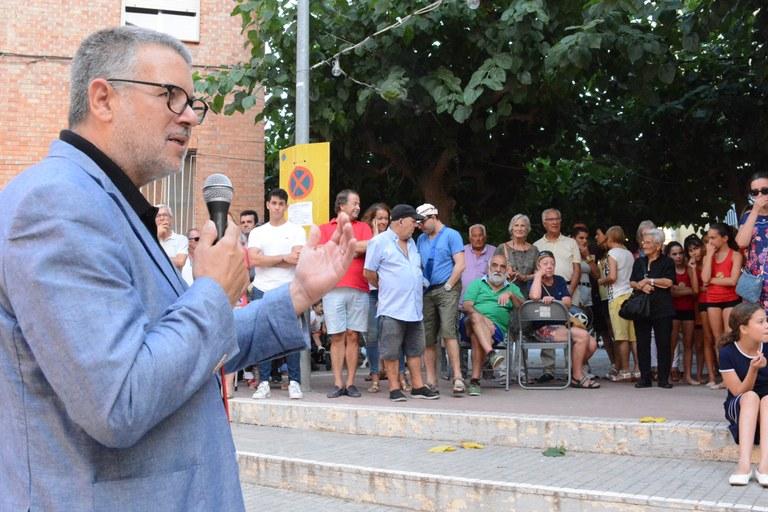 L'alcalde Pau Ricomà, pregoner de les festes del carrer Goya