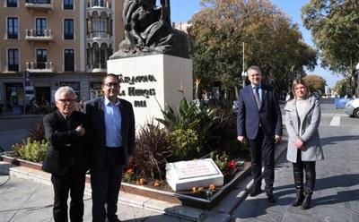 Acte d'homenatge a l'escultor Julio Antonio amb la descoberta d'una plaça amb el seu nom