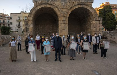 Chantal Grande, Sofia Mata, Rosa M. Ricomà, Montserrat Rios i Dolors Saumell reben les distincions al mèrit cultural