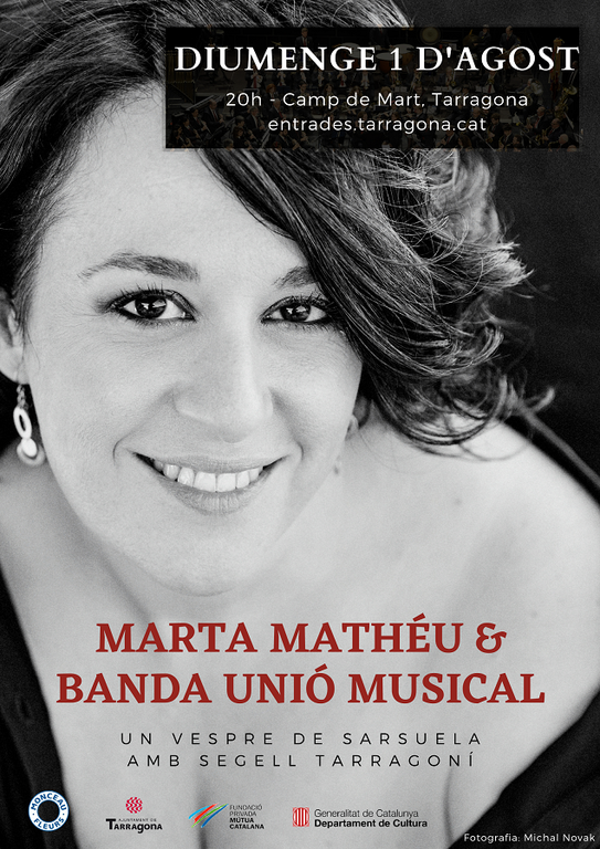 Diumenge al vespre el Camp de Mart s'omplirà de sarsuela amb Marta Mathéu & BUMT