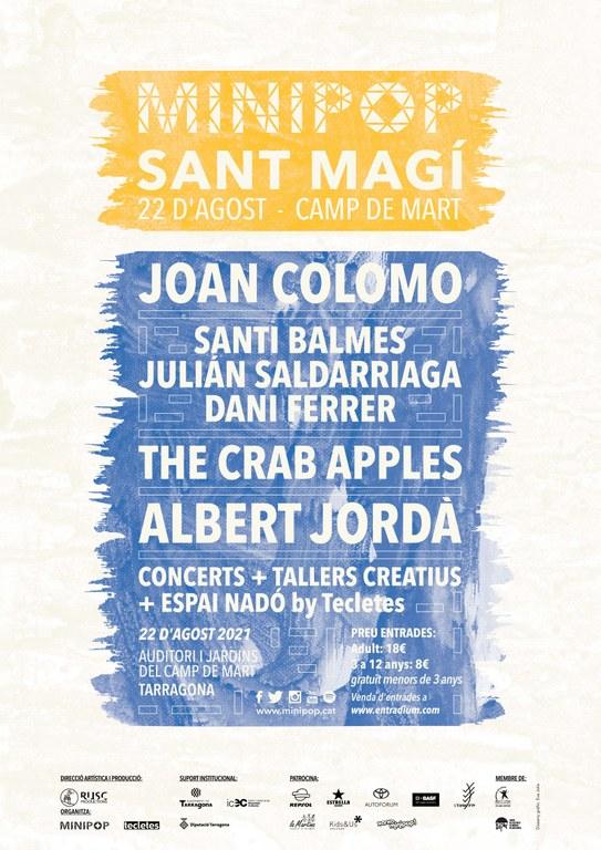 El Minipop presenta un concert únic al Camp de Mart amb actuacions destacades com Santi Balmes, Joan Colomo, The Crab Apples i Albert Jordà