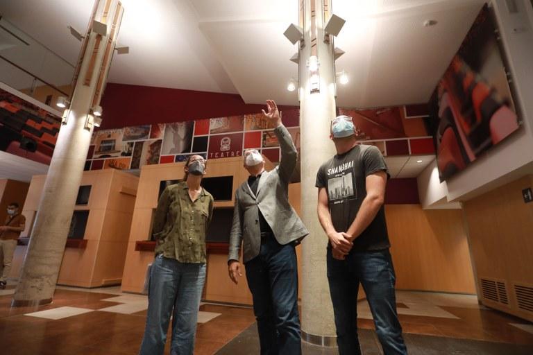 Finalitzen els treballs d'emergència al vestíbul del Teatre Tarragona