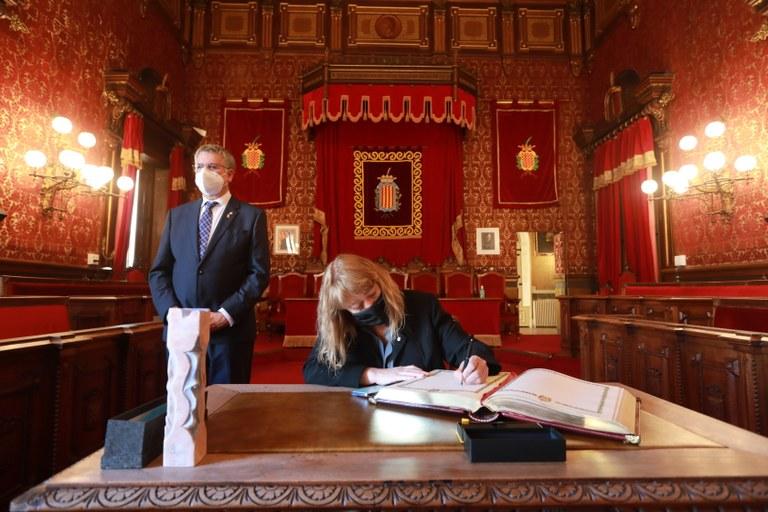 La consellera de Cultura de la Generalitat, Natàlia Garriga, visita Tarragona