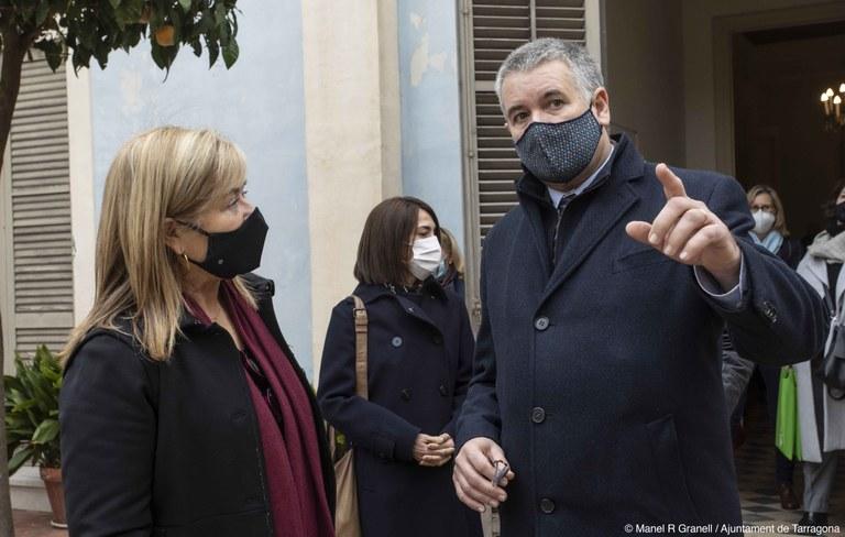 La Consellera de Cultura visita el Centre d'Art Tarragona