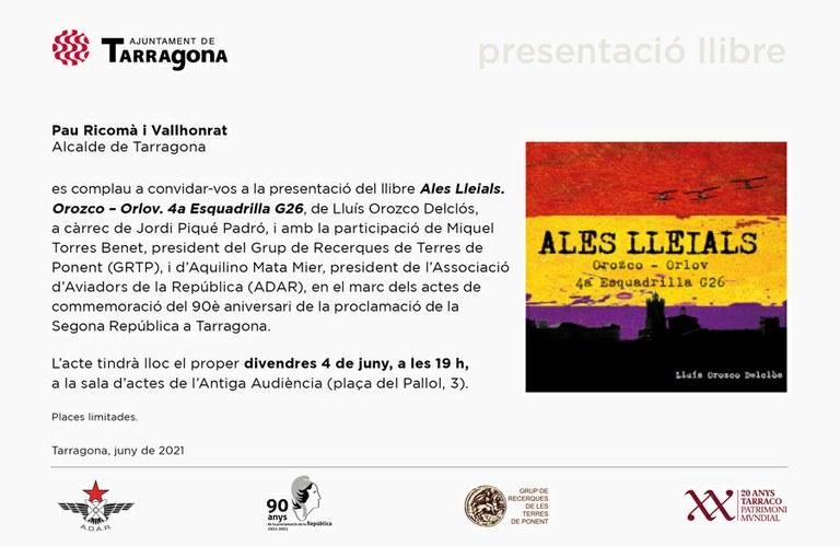 L'Antiga Audiència acull aquest divendres la presentació del llibre 'Ales Lleials', de Lluís Orozco Delclós