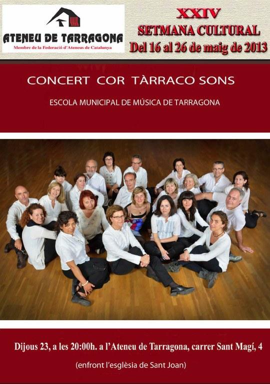 Concert del Cor Tarracosons a l'Ateneu de Tarragona