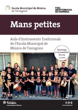 Els alumnes més petits de l'Aula d'Instruments Tradicionals de l'EMMT actuen a Manresa
