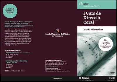I curs de Direcció Coral a l'EMM de Tarragona