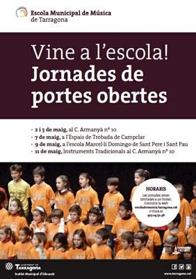 L'Escola Municipal de Música de Tarragona inicia les jornades de portes obertes