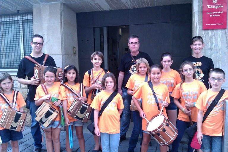 L'Escola Municipal de Música de Tarragona participa a la Festa Major.