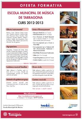 OFERTA FORMATIVA DE L'EMM PER AL CURS 2012-2013
