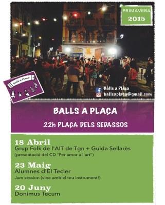 Aquest dissabte, nova edició de Balls a Plaça
