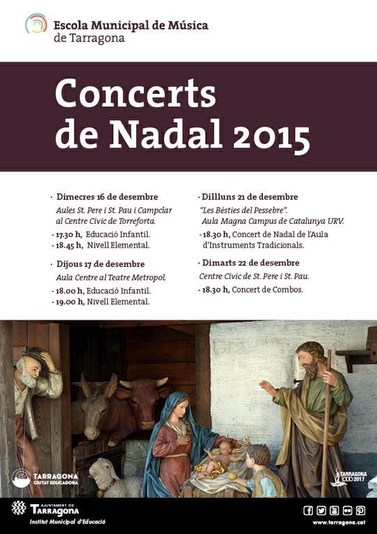 Concerts de Nadal 2015 de l'Escola Municipal de Música de Tarragona